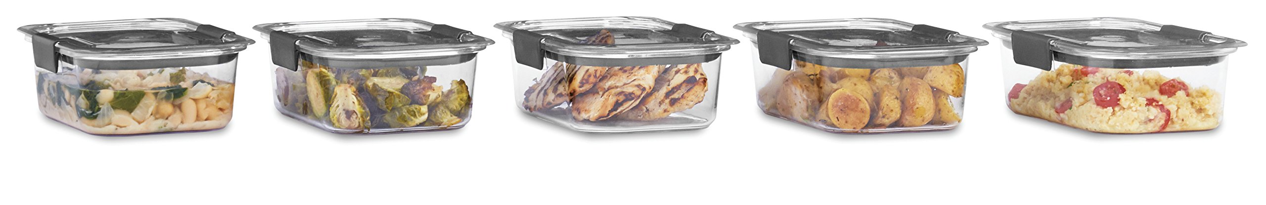 Rubbermaid Brilliance Food Storage Container, BPA-free Plastic, Medium, 3.2 Cup, 5-Pack, Clear by Rubbermaid (Image #4)