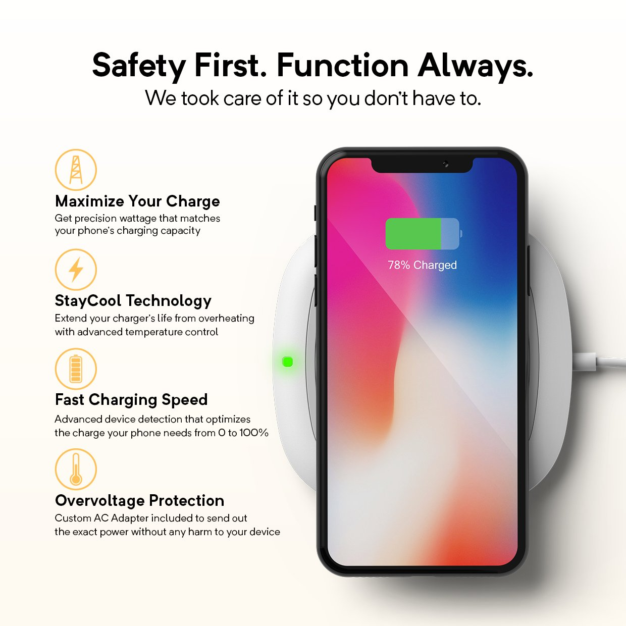 Caseology Padwell Qi Certified Fast Wireless Charger The Circuit Adapter Charge Mobile Phones Phone Battery 10w Android 75w Iphones White Cell Accessories