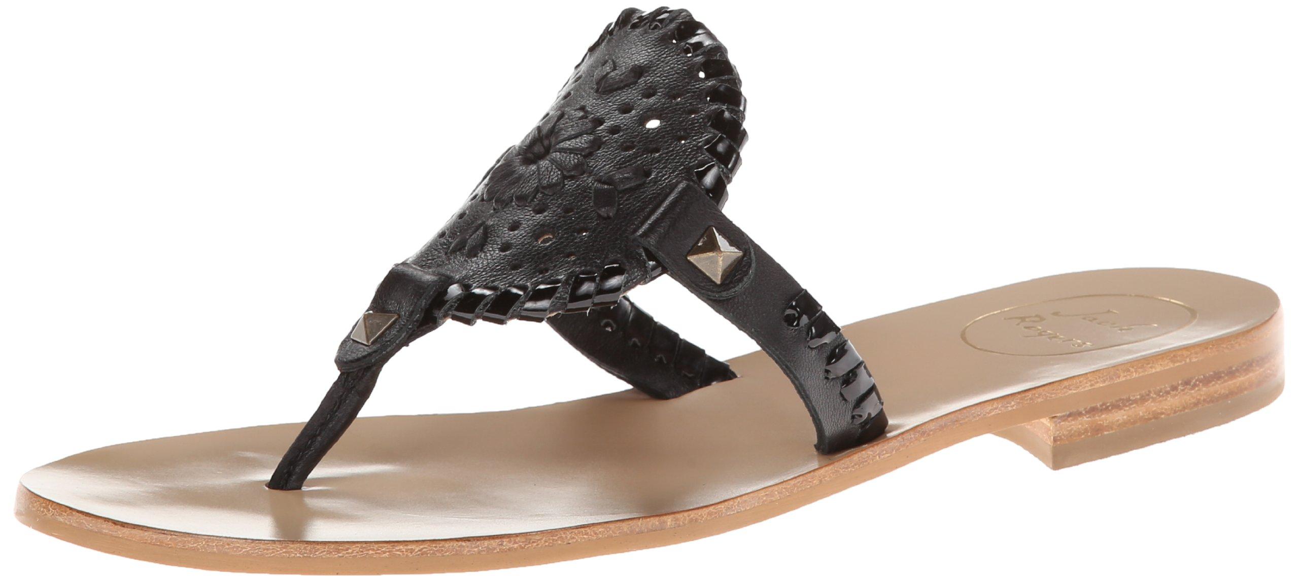 Jack Rogers Women's Georgica Sandal,Black/Black Patent,7 M US by Jack Rogers (Image #1)