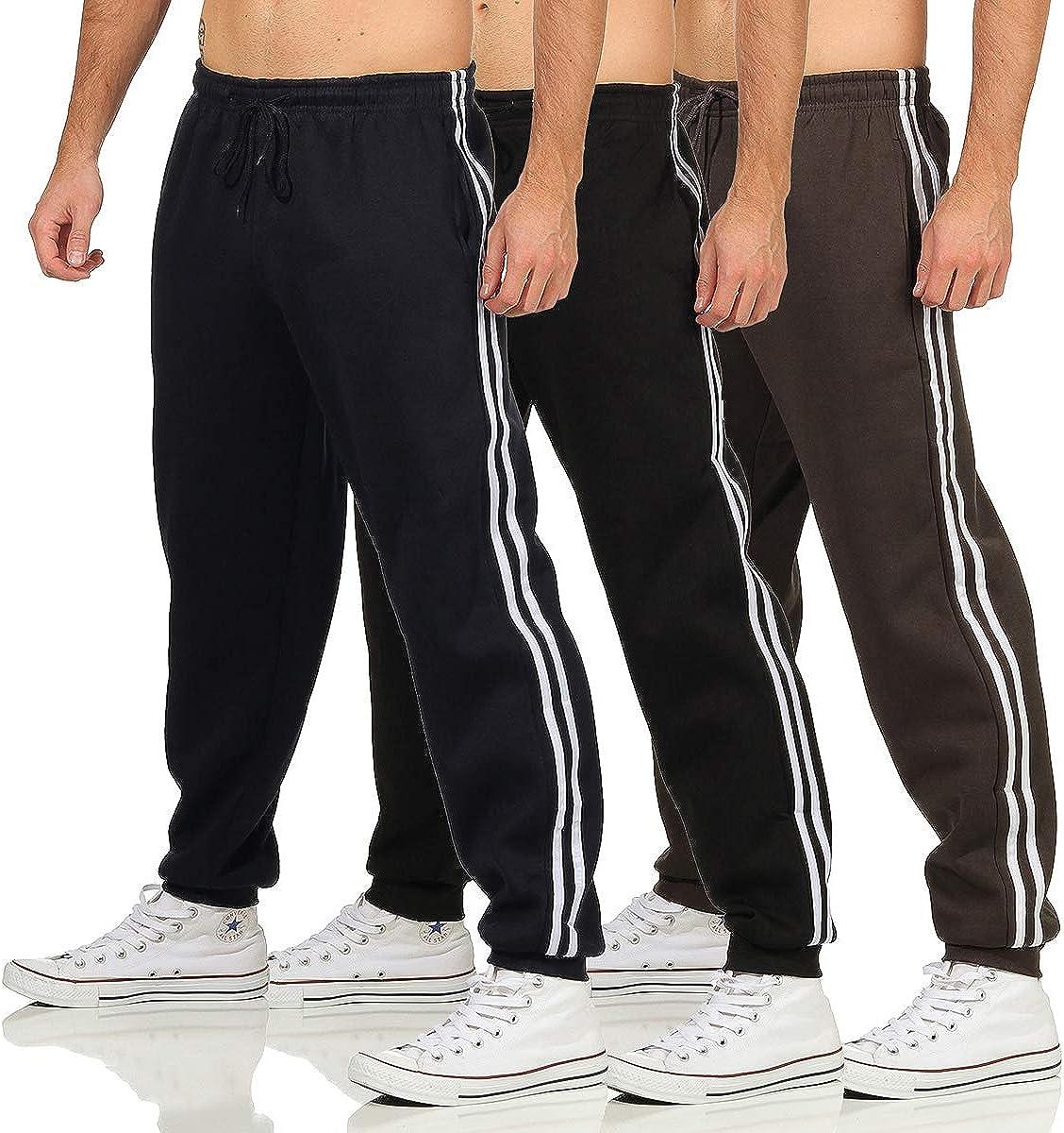 Herren Trainingshose Sporthose Freizeithose Jogginghose mit Seitenstreifen Sport