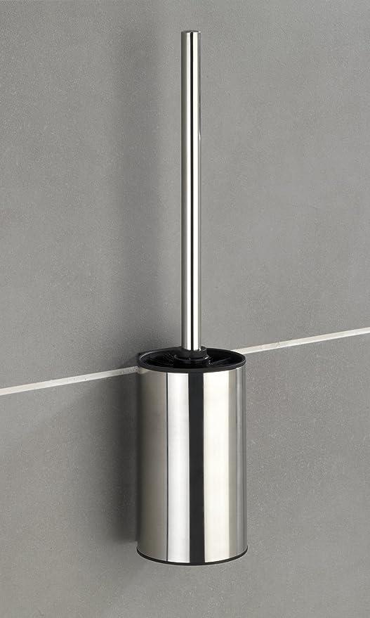 Wenko 23355100 Turbo-Loc ® Cepillo WC Pared Detroit, Acero Inoxidable, 8,