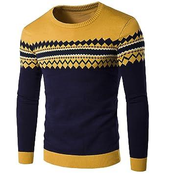 ZHUDJ Los Hombres Suéteres Hombres Suéter Delgado De Cabeza Y Cuello Camisa  Jersey Jerseys De Punto V M  Amazon.es  Deportes y aire libre 427c64751abf