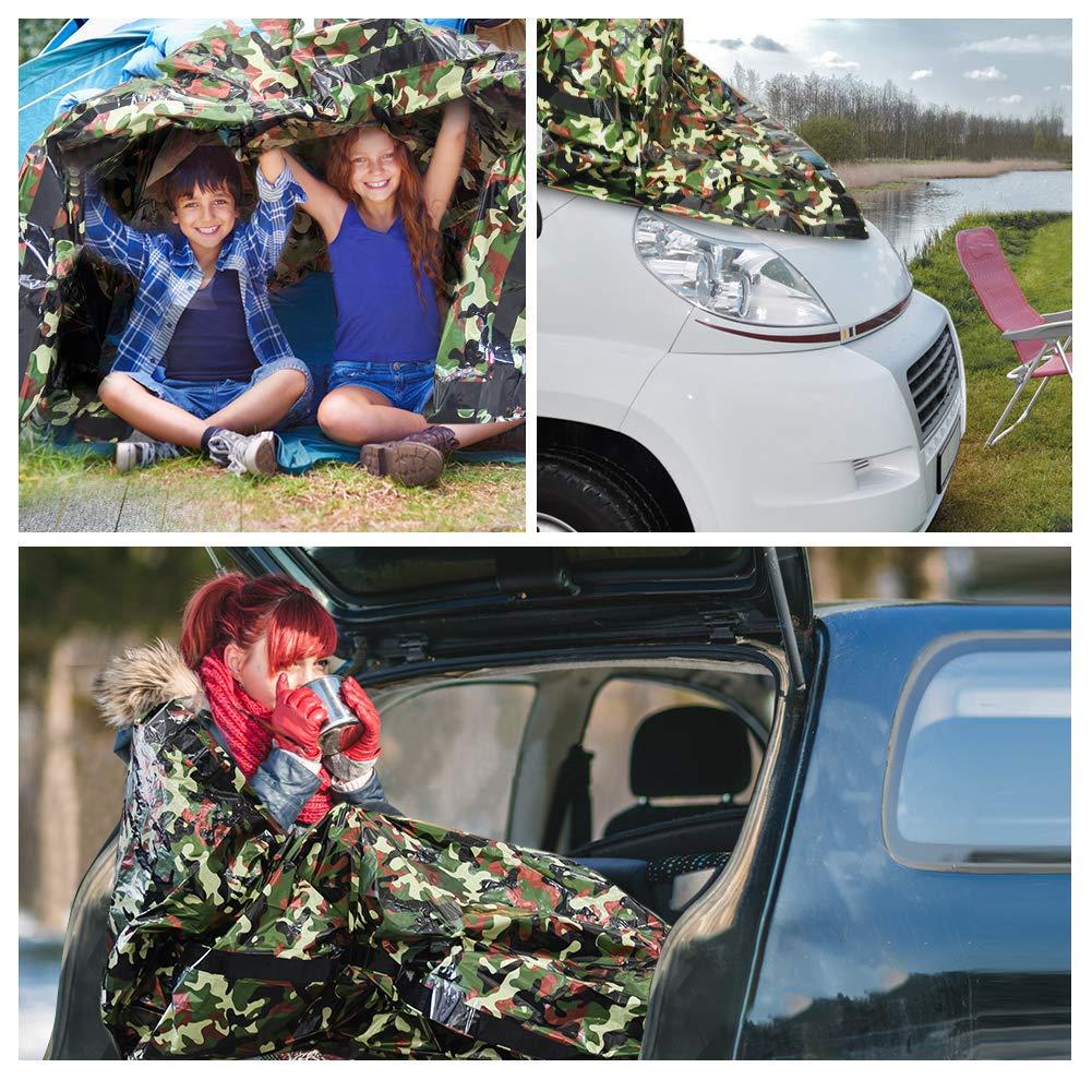 Erste-Hilfe-Schlafsack Notfall-Decke f/ür Outdoor PE Aluminiumfolie Wandern 120 x 200 cm Camping Outtybrave Notfall-Schlafsack