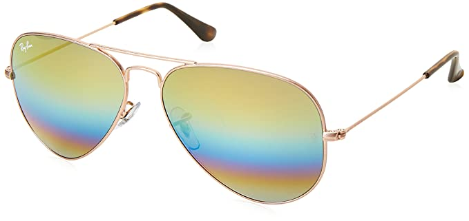 34affbad1c Image Unavailable. Image not available for. Colour  Ray-Ban Mirrored Aviator  Men s Sunglasses ...