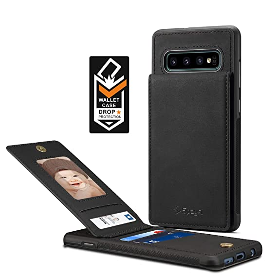 best service 76703 8591c Samsung Galaxy S10 Plus Card Holder Case, S10 Plus Wallet Case Spaysi Slim,  Galaxy S10 Plus Folio Leather case, Flip Cover, Gift Box, for S10 Plus ...