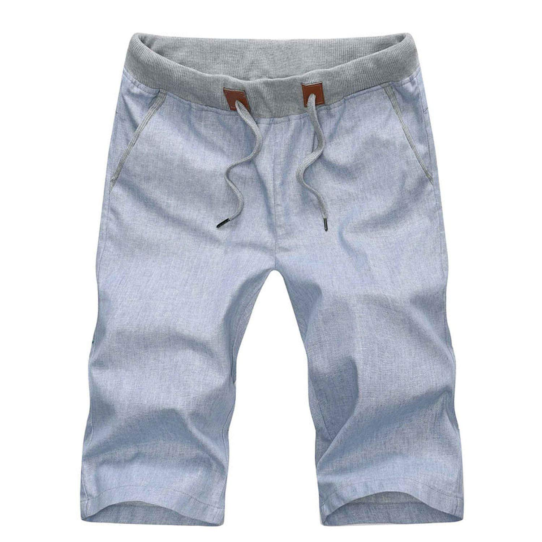 Big Hit Summer Casual Linen Men Shorts Slim Comfortable Beach Shorts