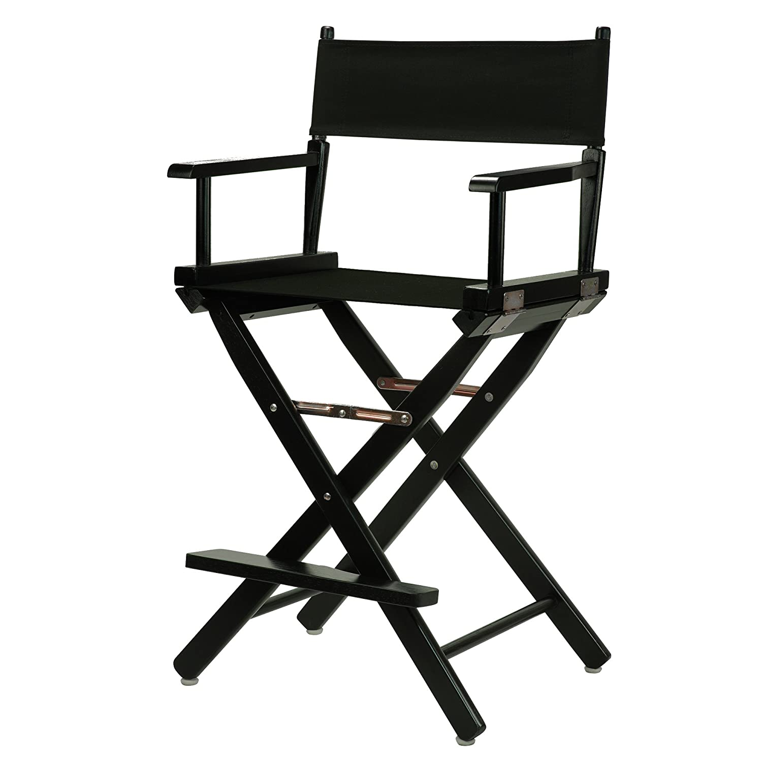 "Amazon Casual Home 24"" Director s Chair Black Frame with"