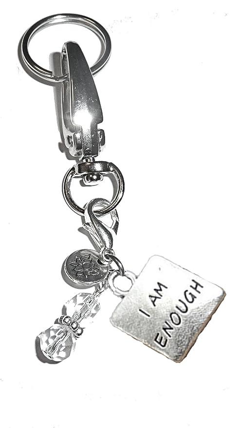 Amazon.com: Llavero con colgante de mensaje, bolso de mujer ...