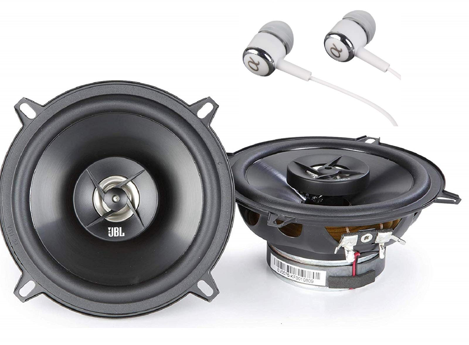 "JBL Stage 502 105W Max (35W RMS) 5-1/4"" 4 ohms Stage Series 2-Way Coaxial Car Audio Speakers / FREE ALPHASONIK EARBUDS"