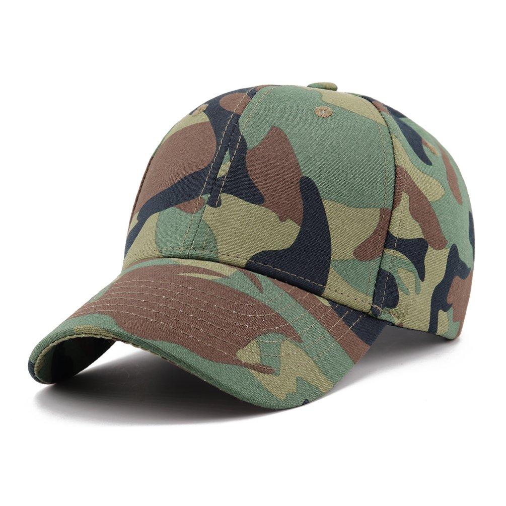 Gisdanchz Camo Basball Hat 6 3/4-7 3/4 Cotton 6 Panel Unisex Outdoor Cap Gisdanchz Army Cap