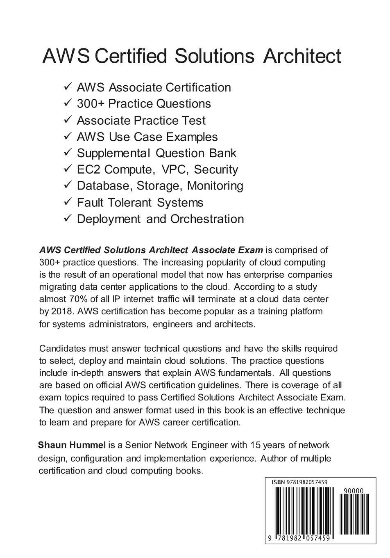 Amazon Aws Certified Solutions Architect Associate Exam 300