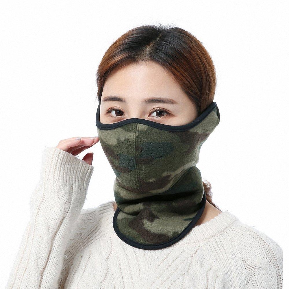 Luufan Unisex Winddichte Gesichtsmaske Nackenwärmer für Outdoor Ski Motorrad (Camouflage)