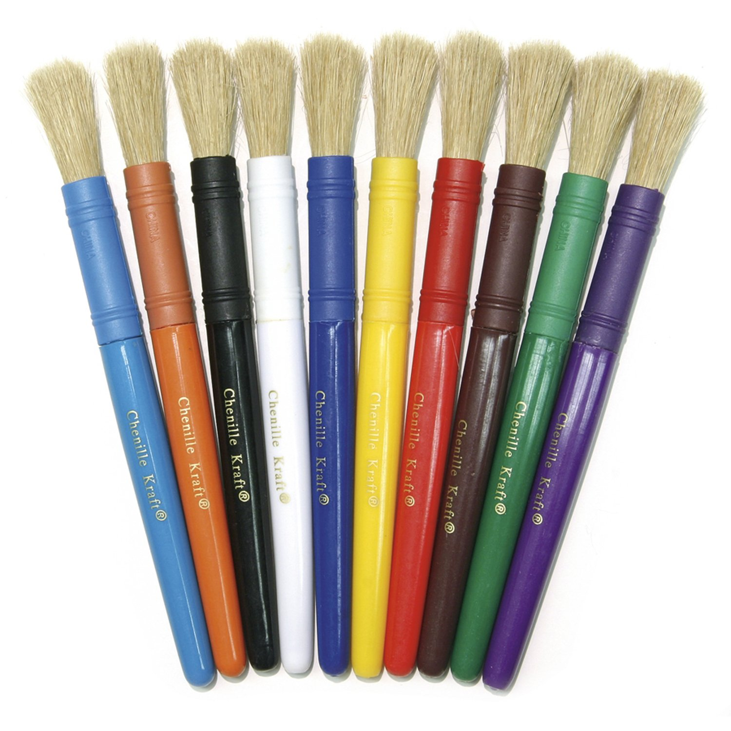 Chenille Kraft CK-5900 Colossal Brushes 10-Set Assorted- Colors CHENILLE KRAFT COMPANY