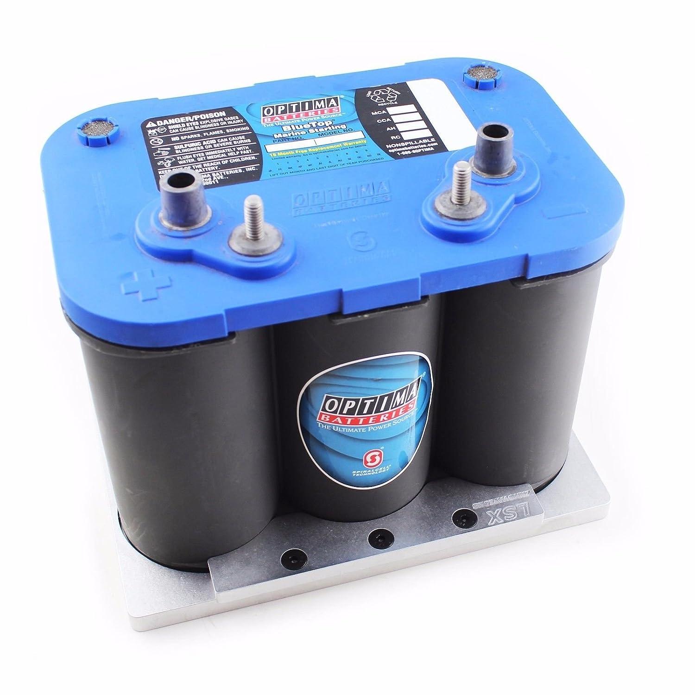 Optima Blue Top >> Amazon Com Optima Battery Tray Billet Aluminum Automotive
