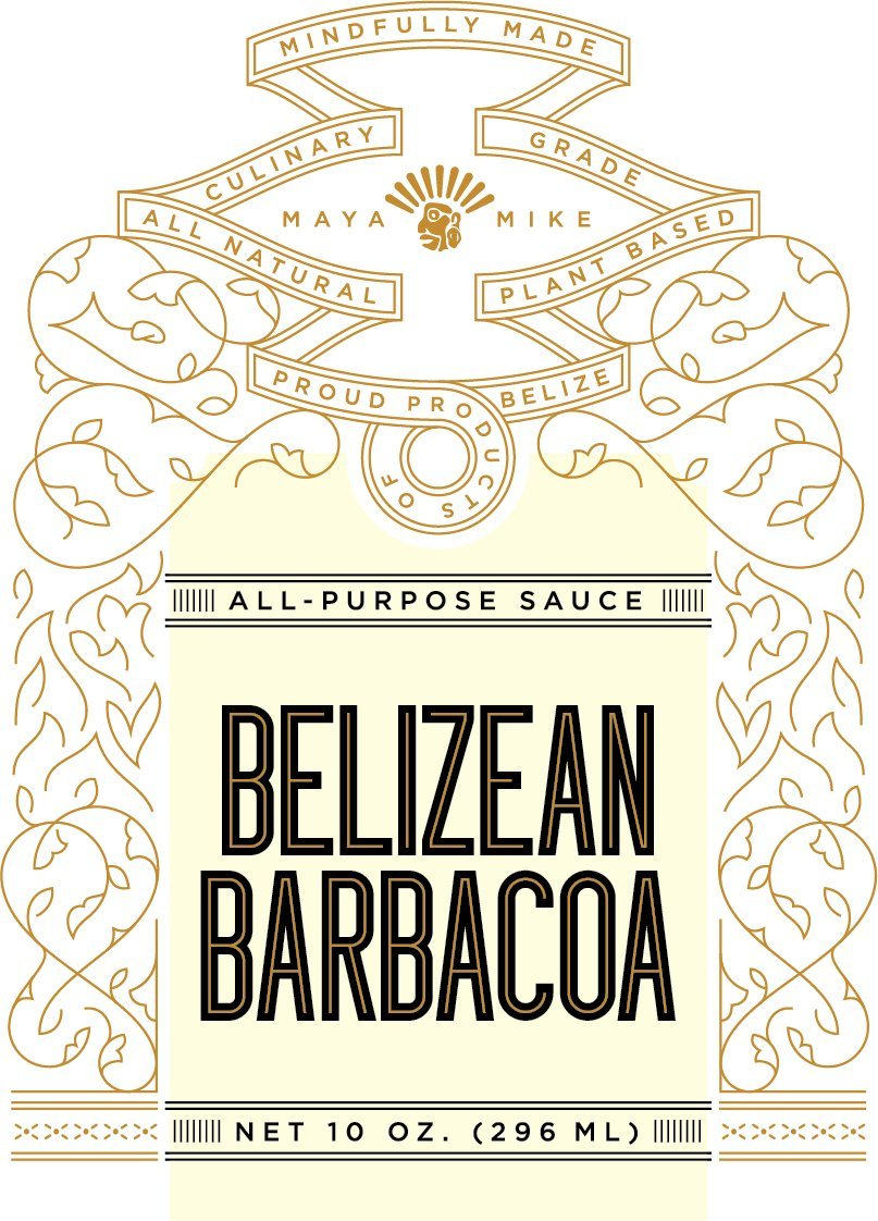 Maya Mikes Belizean Barbacoa All Purpose Hot Sauce, Original, 10 oz. (296
