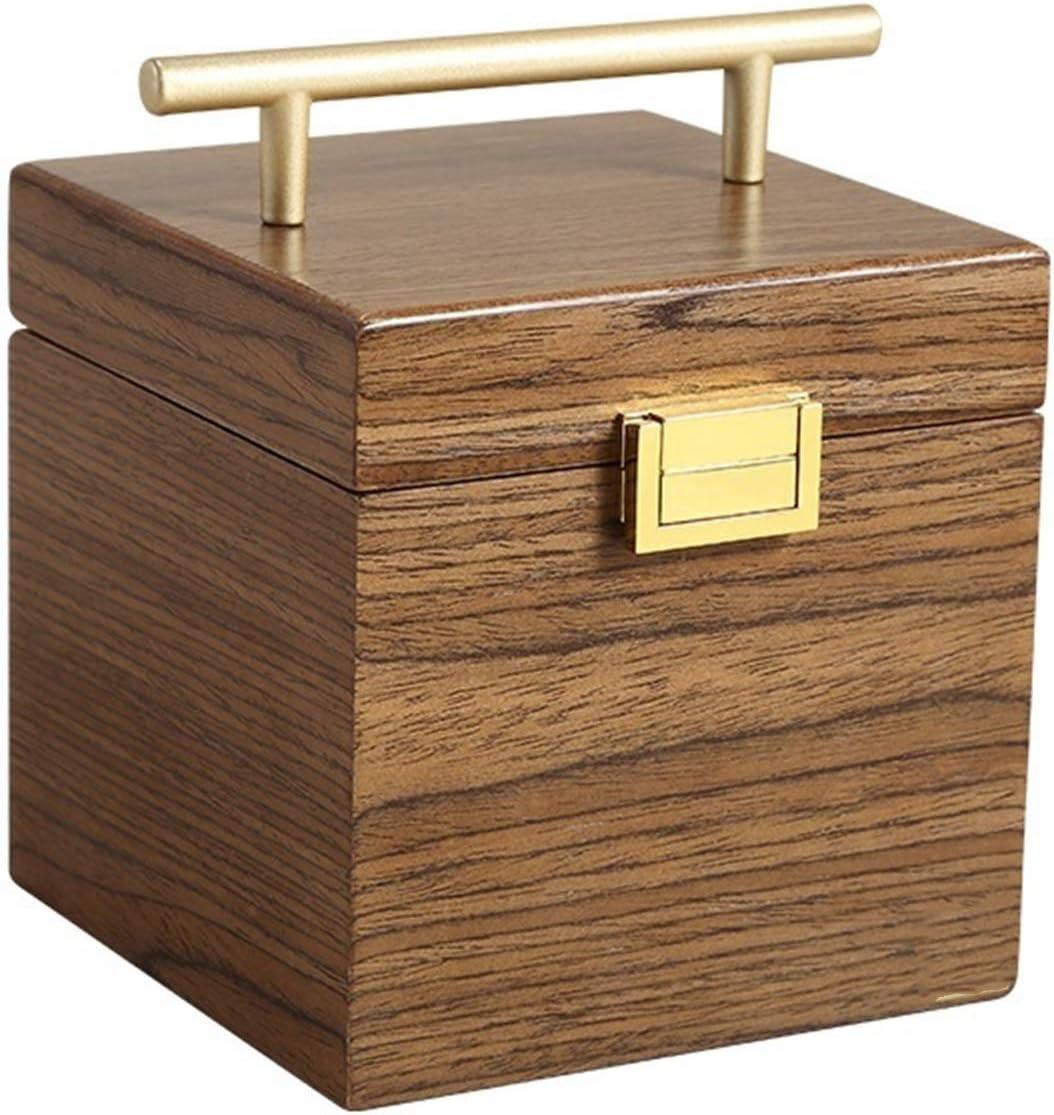 Organizador de Caja de joyería Caja de joyería Organizador joyería de Tres Capas Caja de Almacenamiento Regalo ataúd Pendiente Anillos Collar joyería Cajas