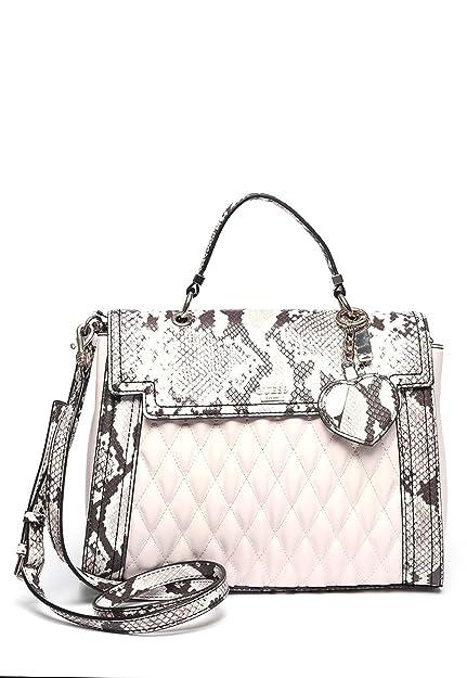86b51e515d Guess handbag MARISA top handle flap powder multi  Amazon.co.uk ...