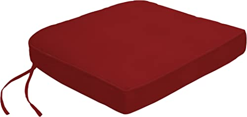 Custom x Easy Way Products 19317U-F5403 Contour Dining Chair Cushion, 19×19, Jockey Red