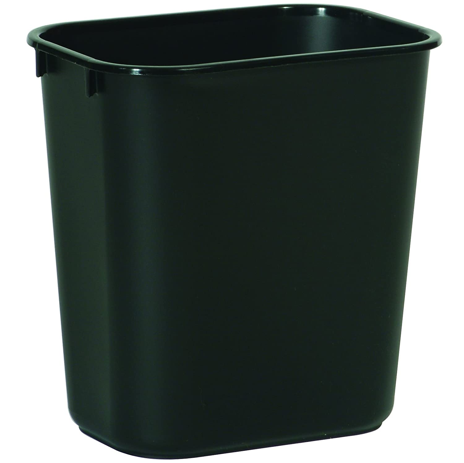 Rubbermaid Commercial Products FG295500BLA Plastic Resin Deskside Wastebasket, 3.5 Gallon/13 Quart, Black (Pack of 12)