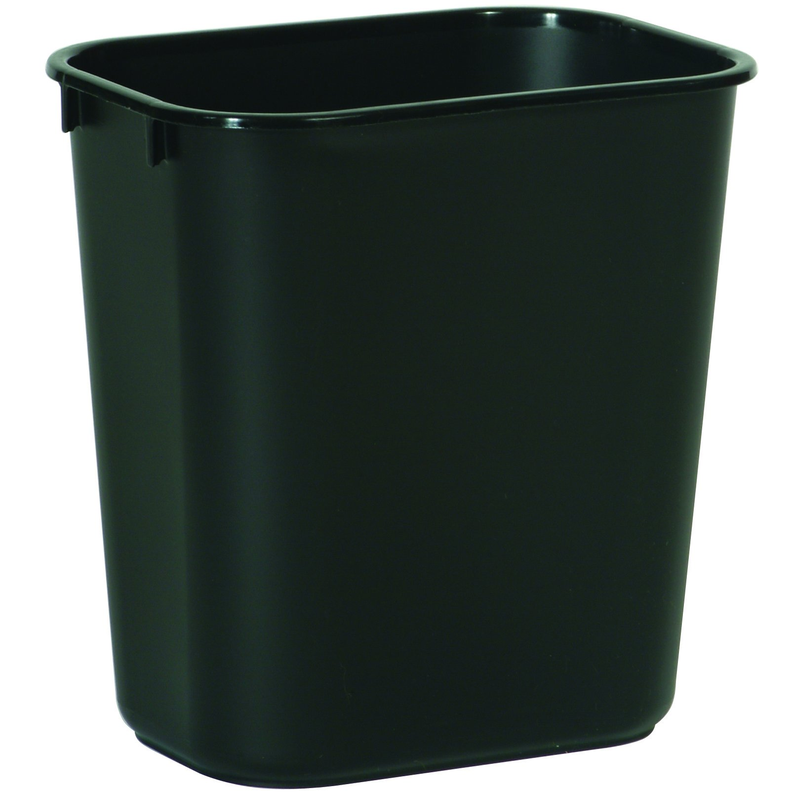 Rubbermaid Commercial Deskside Wastebasket, 3.5-gallon, Small, Black (FG295500BLA) (Pack of 12) by Rubbermaid
