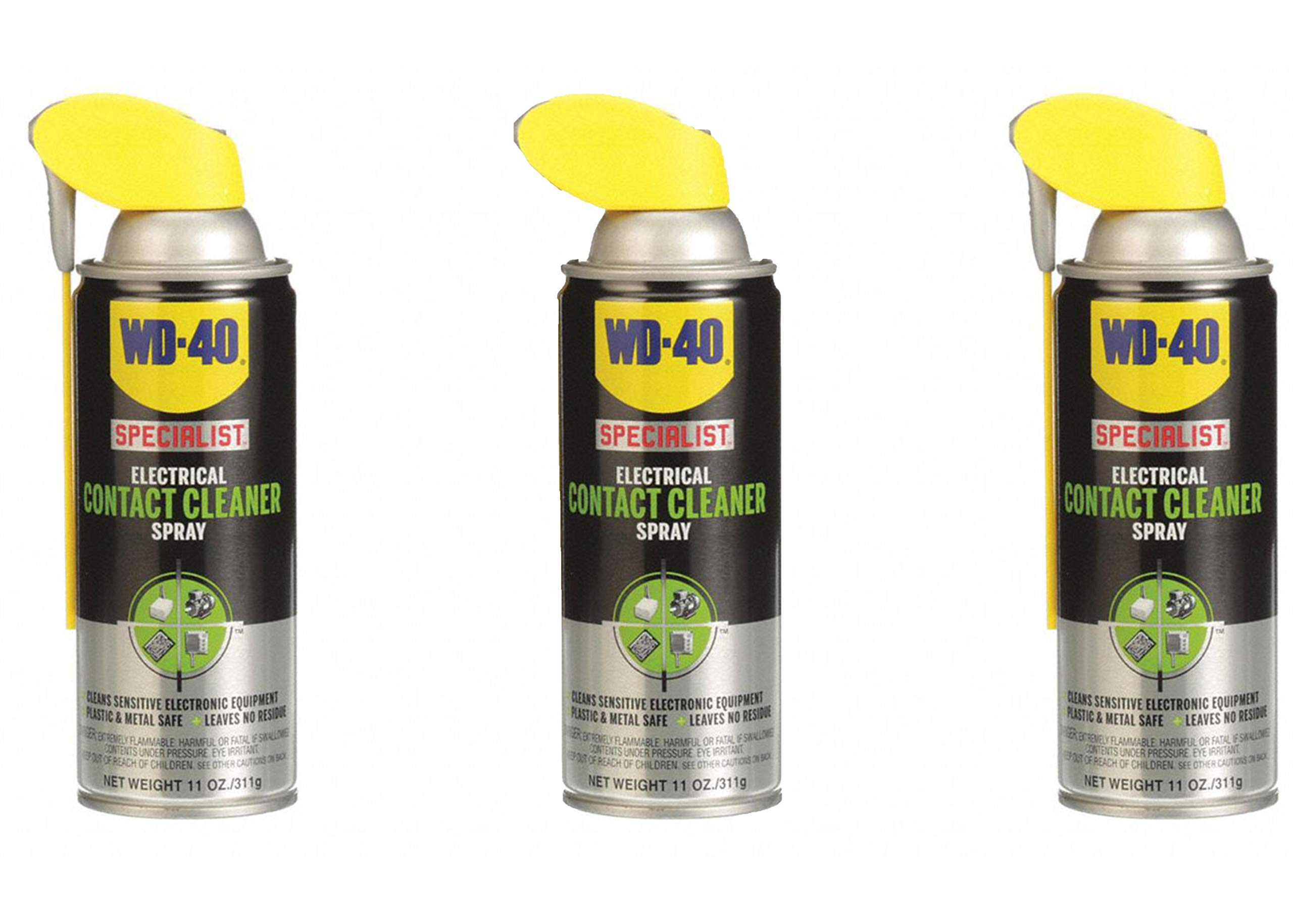 WD 40 Specialist Electrical Contact Aerosol Cleaner Spray, 11 Ounces (3 Pack)