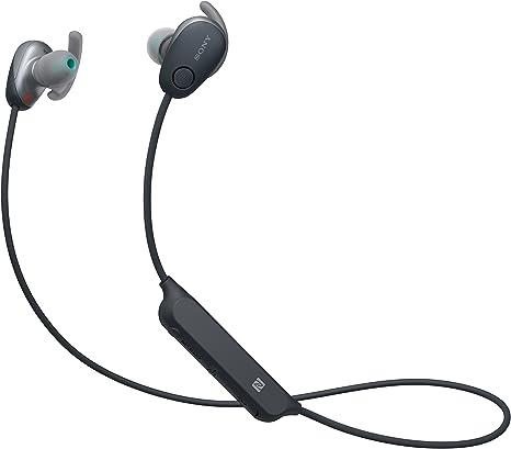 Sony WISP600NB.CE7 - Auriculares Deportivos Inalámbricos (Modo Sonido Ambiente, Cancelación de Ruido, Bluetooth y NFC), Color Negro, Talla Única: Amazon.es: Electrónica