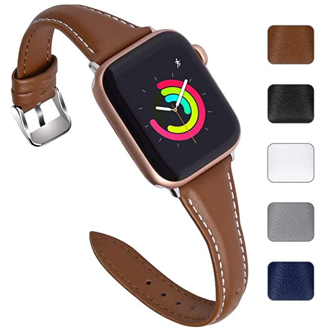 Correa Reloj de Compatible con Apple Watch de Piel Sliim 38mm ...