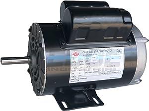 NEW 3 HP Compressor Duty Electric Motor, 3450 RPM, 56 Frame, 5/8 Shaft Diameter, 230 VOLT