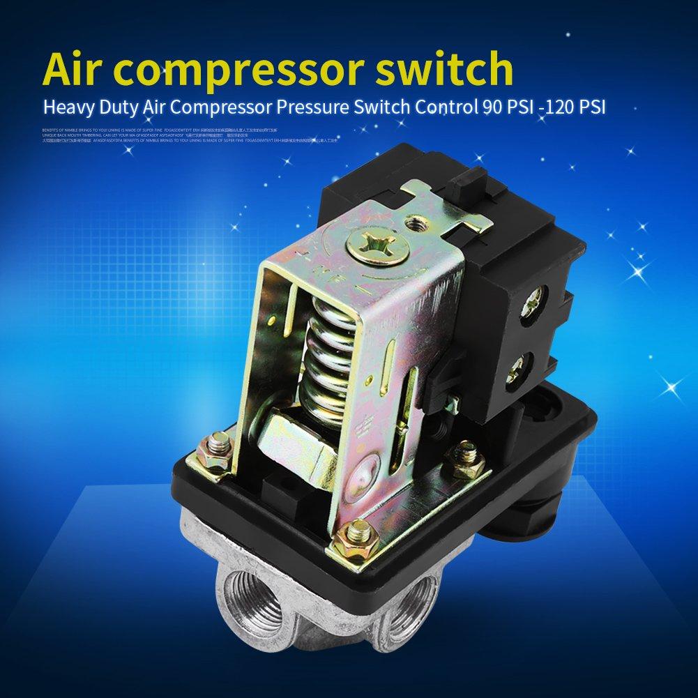 soarup Presostato de Control de Presión del compresor de aire, 240 V 16 A presión de bomba de compresor de aire on/off Válvula de control de interruptor de ...