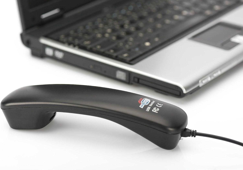 DIGITUS Skype Combin/é USB Plug-and-Play pour PC Noir