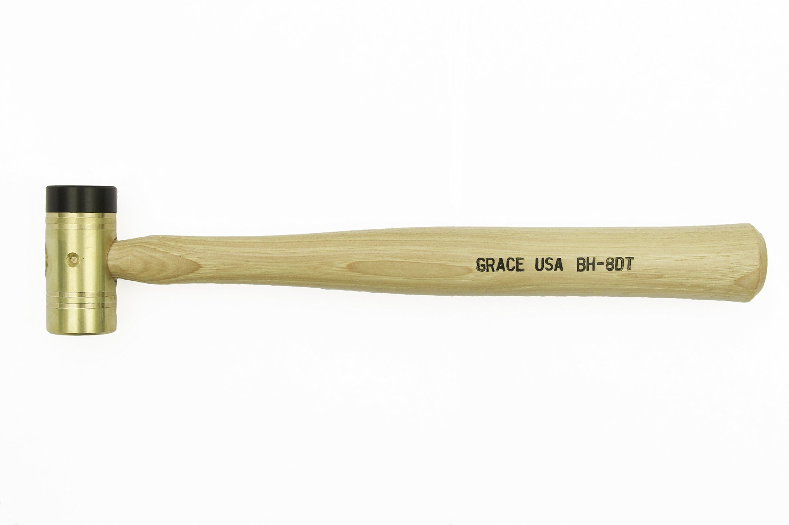 Grace USA - 8 Ounce Delrin Tipped Brass Hammer - 8DT -Gunsmithing - Hammers - 8 ounce - Gunsmith Tools & Accessories by Grace USA