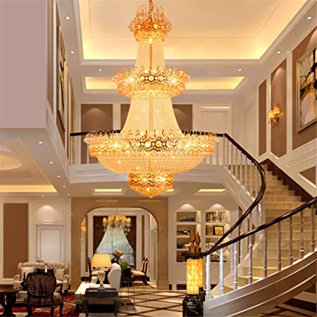 Gmm crystal chandeliers villa double staircase living room gmm crystal chandeliers villa double staircase living room engineering big chandelier golddiameter 800mm mozeypictures Choice Image