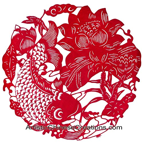 chinese new year gifts chinese paper cuts fish lotus wealth prosperity