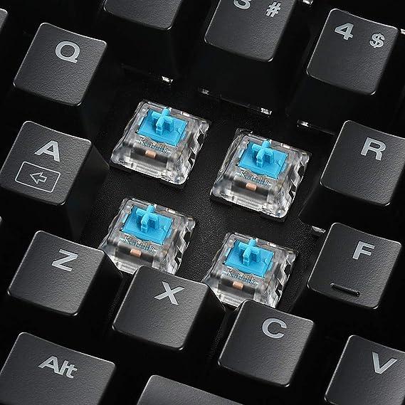 Sharkoon SGK3 - Teclado Gaming Mecánico RGB Español, Metal, KAILH AZUL, Negro: Amazon.es: Informática