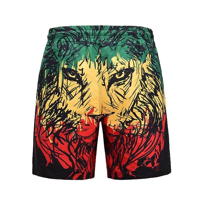 ... playaHombres Casual Graffiti 3D Impreso Trabajo en la Playa Casual Hombres Pantalones Cortos Pantalones Cortos Pantalones: Amazon.es: Ropa y accesorios