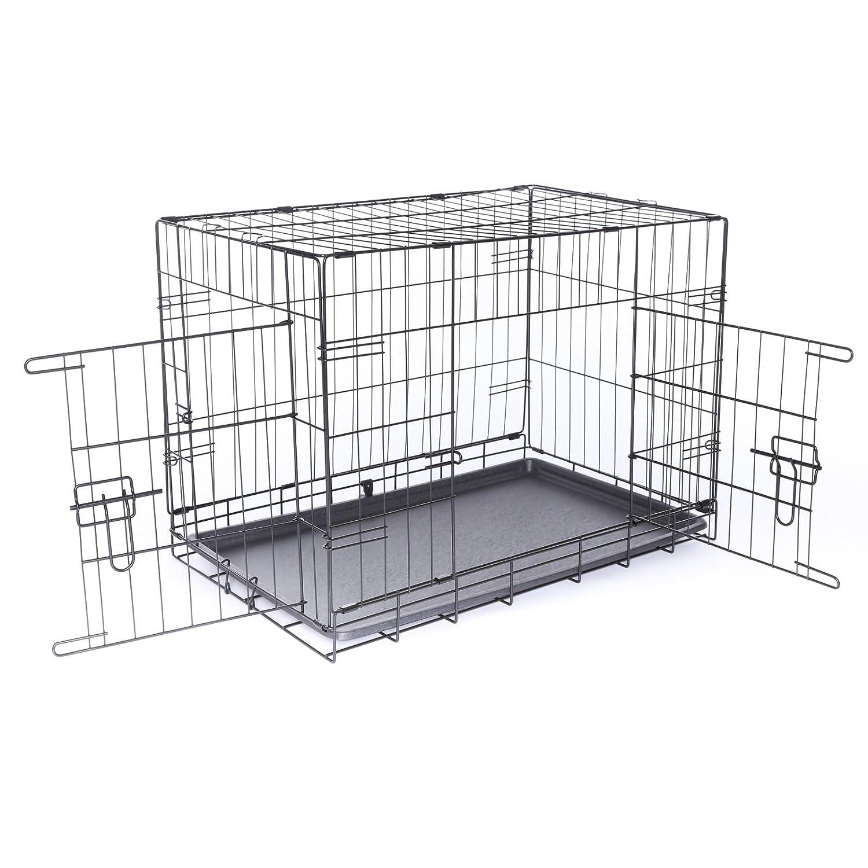 Dibea Cage avec 2 Portes Pliable/Transportable avec Poignées/Plateau pour Chien Taille XXXL DC00495