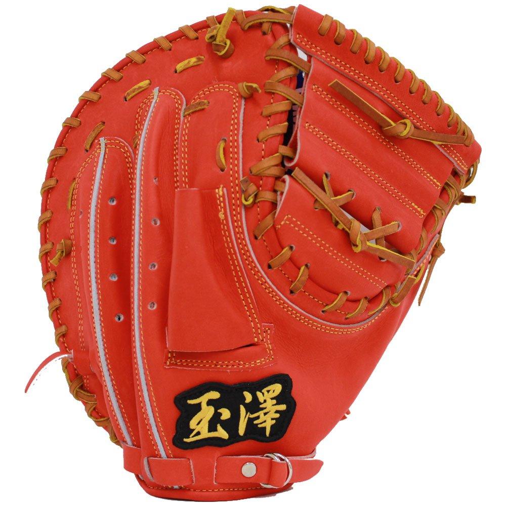 玉澤 タマザワ ソフトボール キャッチャーミット 百四十五番 い 橙色 中型 KANTAMA-145i B017K4PL7K 左投 橙色×灰色 橙色×灰色 左投