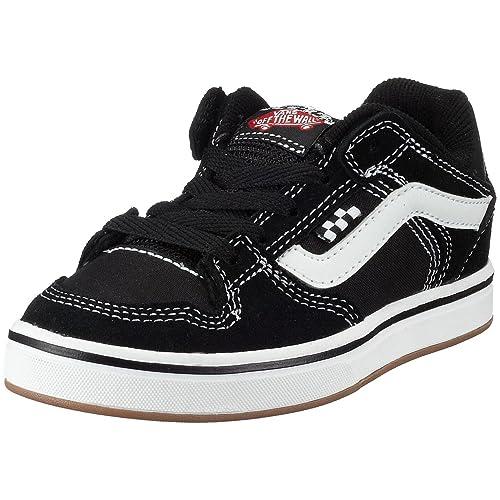 Vans - Zapatillas de Ante para niños, Color Negro, Talla 31