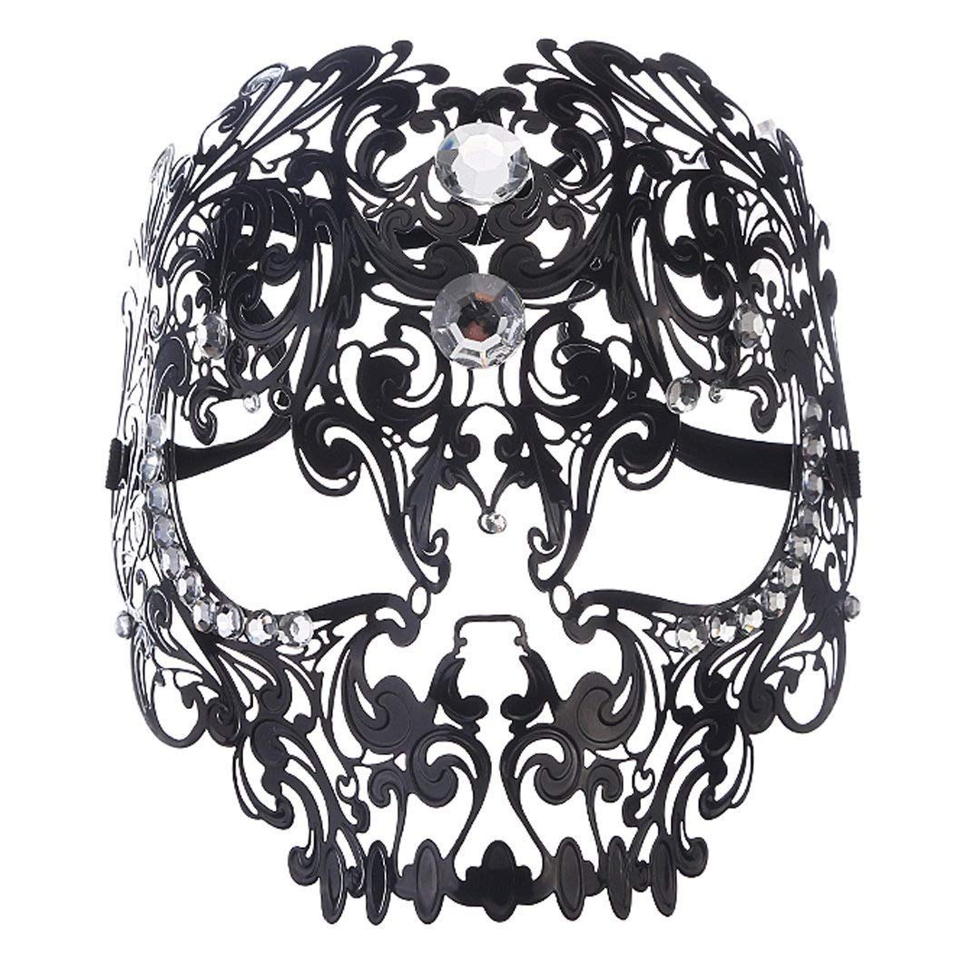 Funpa Masque Métal, Masque Vénitien Femme Masque Carnaval Mascarade Masque avec Strass pour Deguisement Halloween product image
