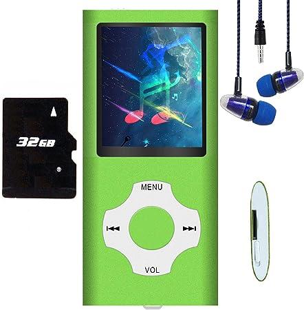 mini porta USB con radio FM lettore musicale MP3 con scheda di memoria SD da 32 GB sottile registrazione vocale lettore MP3 // MP4 schermo LCD digitale da 1,82 Hotechs