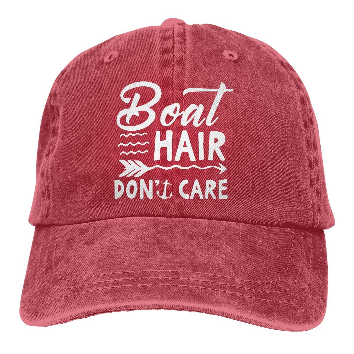 9e6d1408440b8 Boat Hair Don t Care Design Vintage Fashion Men   Women Adjustable Jeans  Dad Hat Cotton Baseball Cap Black at Amazon Men s Clothing store