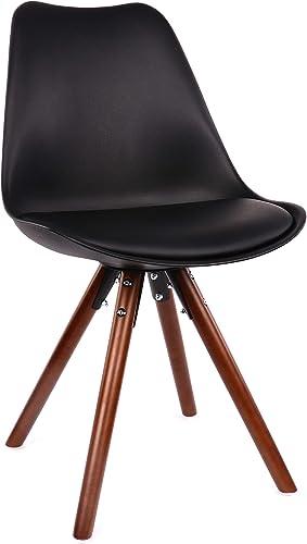 Design Lab MN LS-1000-BLKWAL Viborg Black/Walnut Dining Chair Set of 2