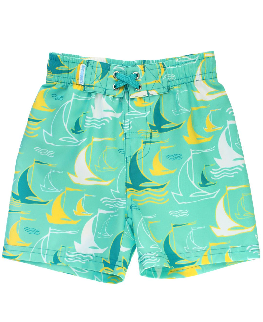12d0dac857d69 RuggedButts Infant/Toddler Boys Sailboat Swim Trunks w/Adjustable Waistband  - Blue - 3-6m: Amazon.in: Baby
