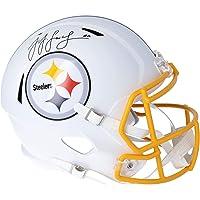 $299 » JuJu Smith-Schuster Pittsburgh Steelers Autographed Riddell Flat White Alternate Revolution Speed Replica Helmet - Fanatics…