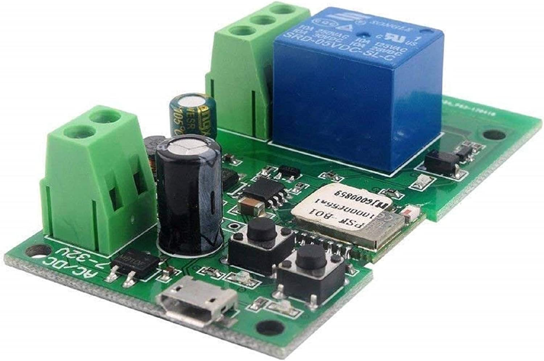 peut /être appliqu/é pour le contr/ôle dacc/ès MHCOZY Module de relais de relais auto-bloquant temps de 0,5 seconde /à 1 heure 5/–32 V DIY Wifi Ouverture de porte de garage /à distance