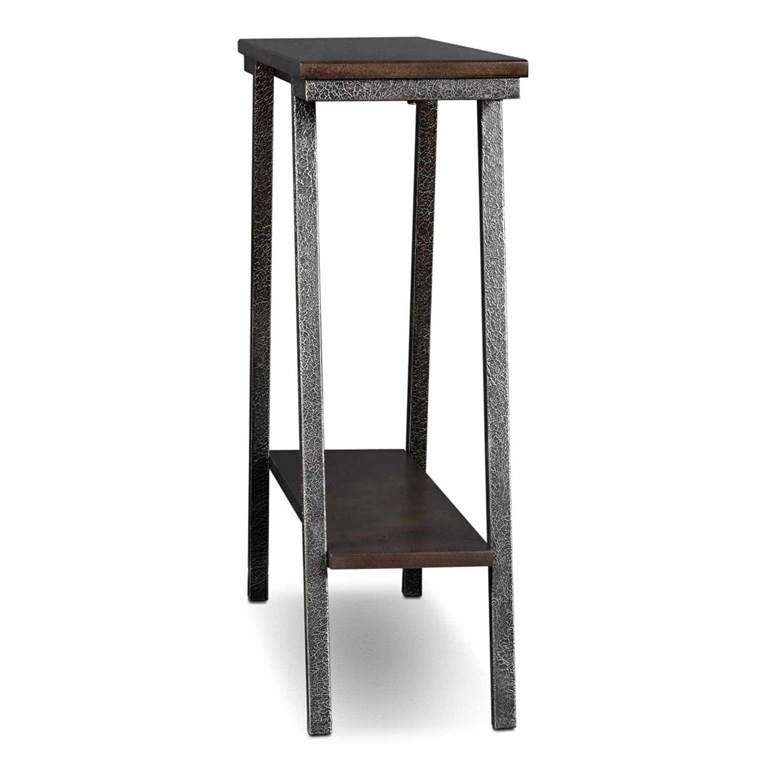 Leick 11431 Empiria Modern Industrial Hall Stand – Walnut