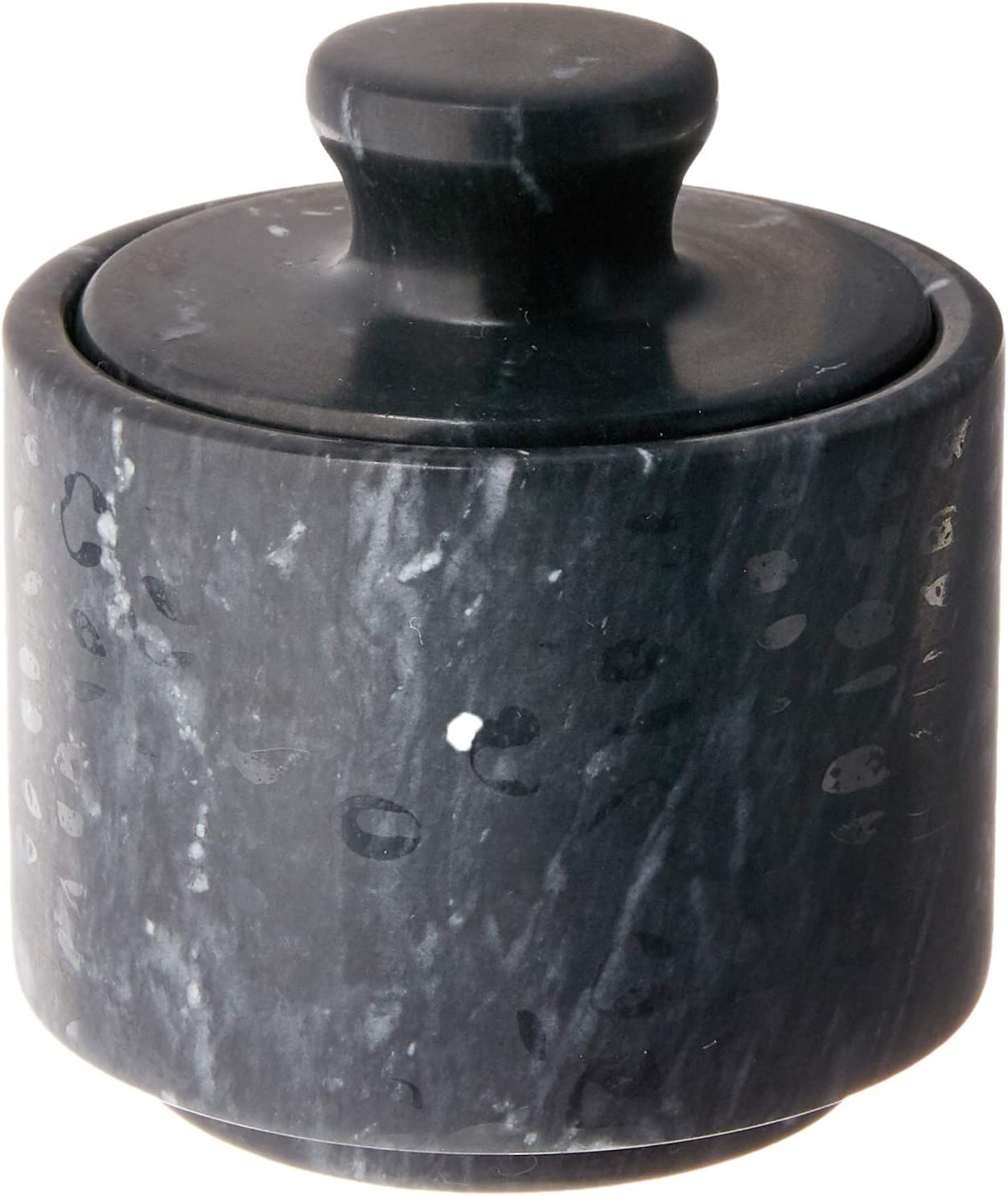 Fox Run 3850 Marble Salt Cellar, Black
