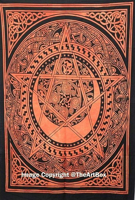 LONGXJA Mandala de la India Estrella Colgante Estera de la ...