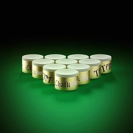 Taom Soft Green Snooker Chalk para todo tipo de puntas de taco de billar, pieza única: Amazon.es: Deportes y aire libre