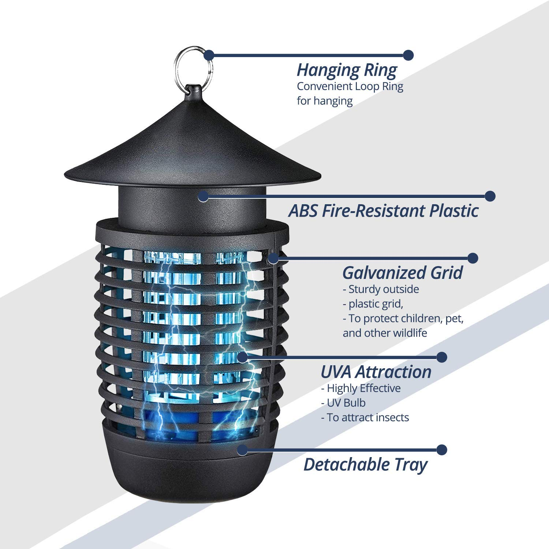 Amazon.com: Bearant Lámpara eléctrica antimosquitos – 100 ...